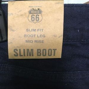 NWT Slim boot Route 66 jeans